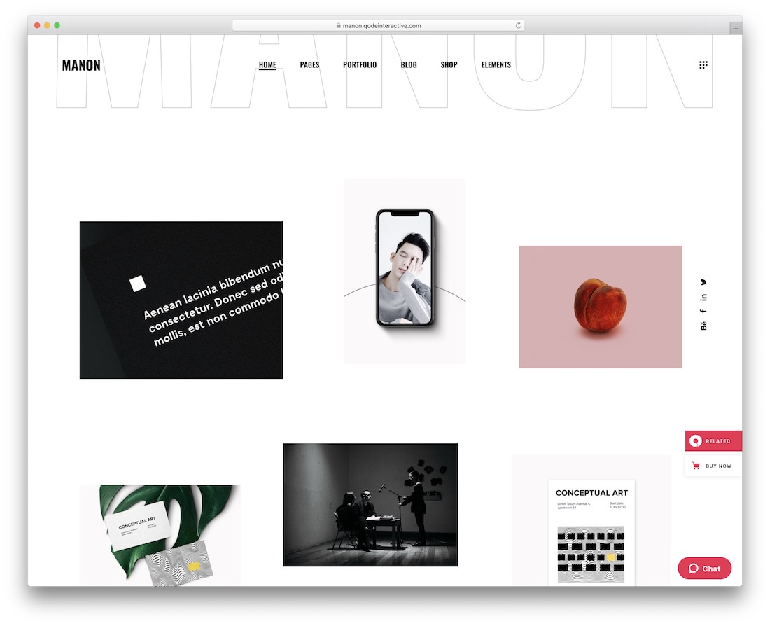 modèle de site web de conception graphique manon