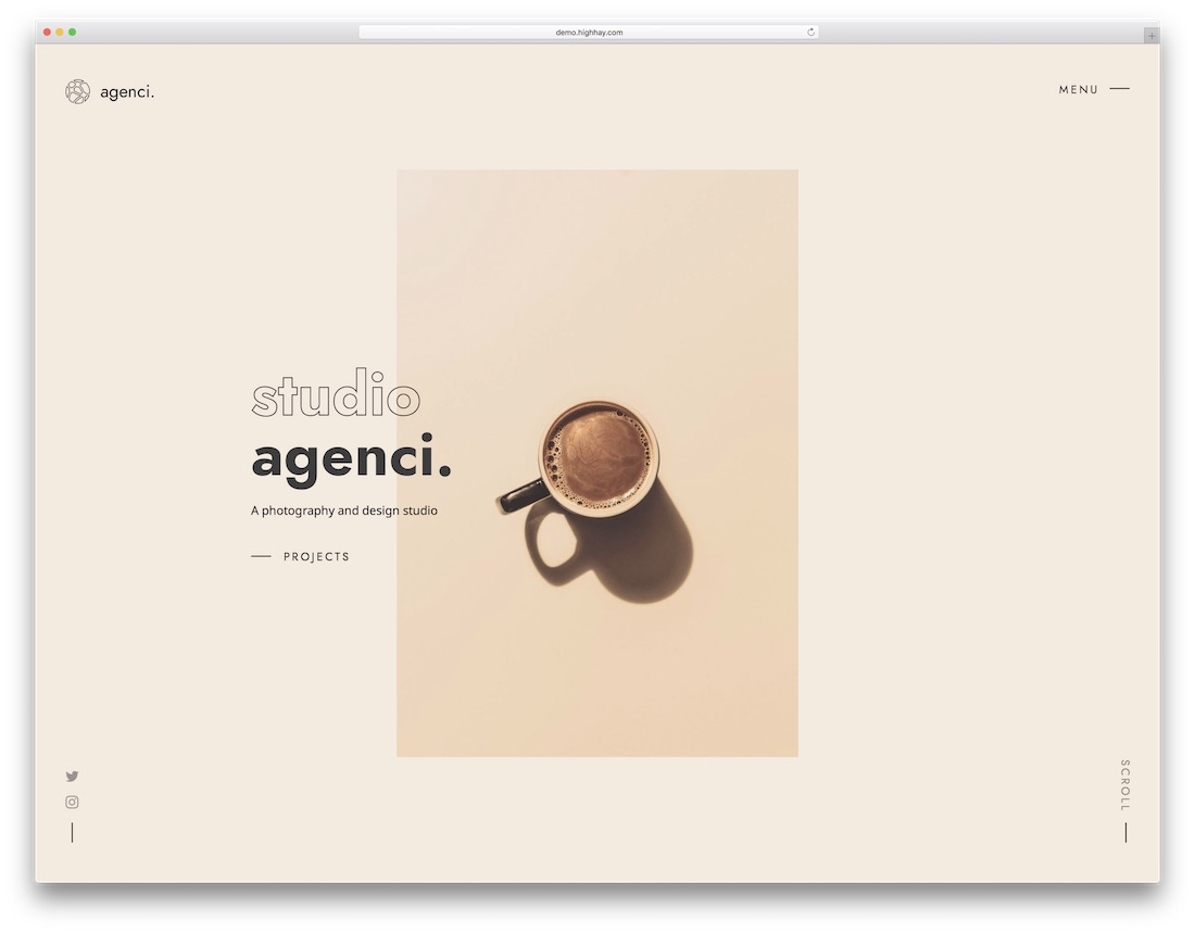 modèle de site Web de conception graphique agenci