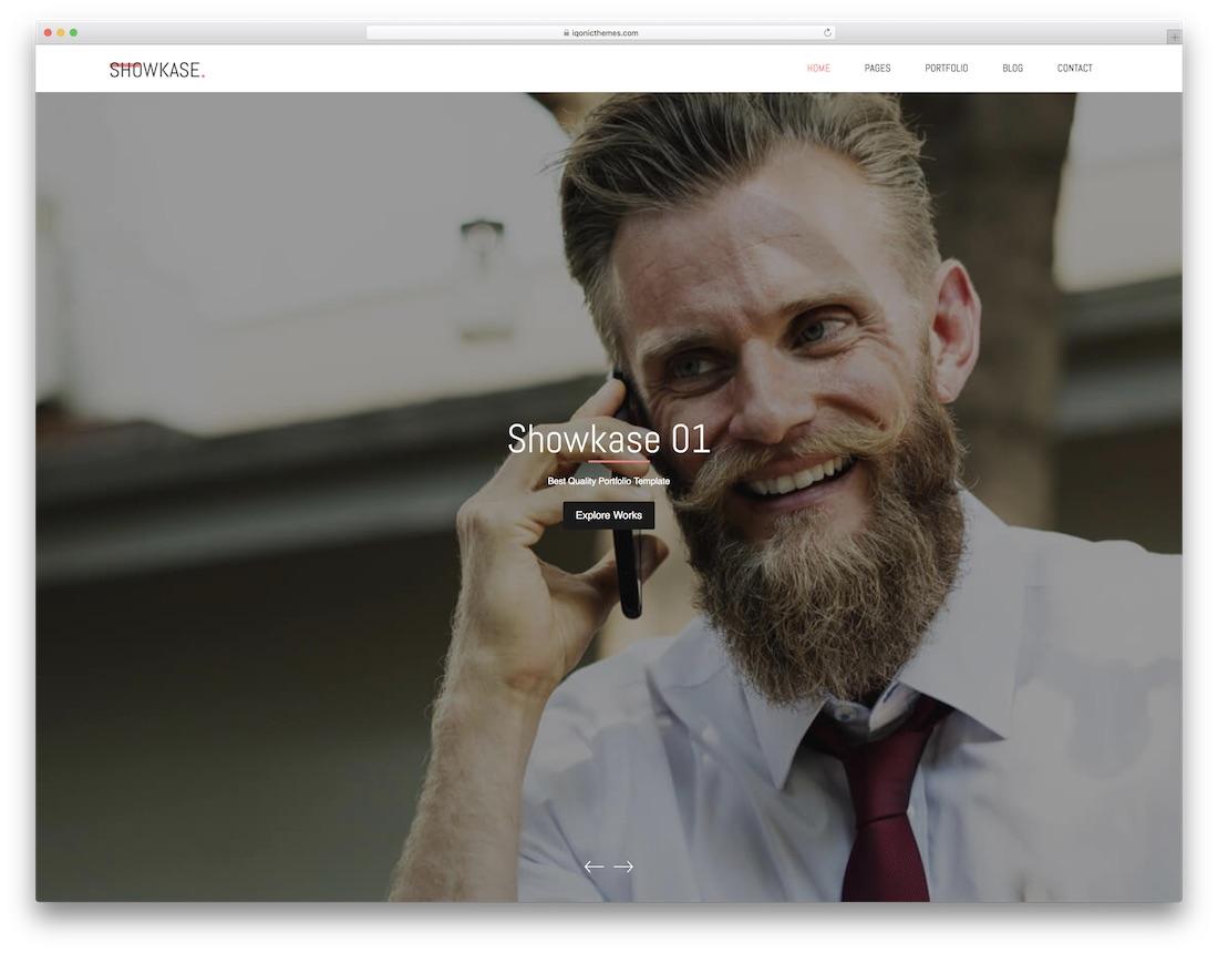 modèle de site Web de conception graphique de showkase