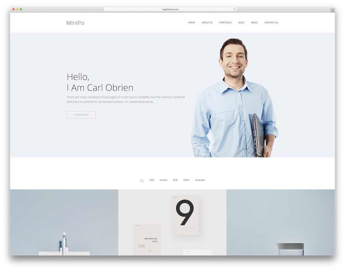 modèle de site Web de conception graphique minipo