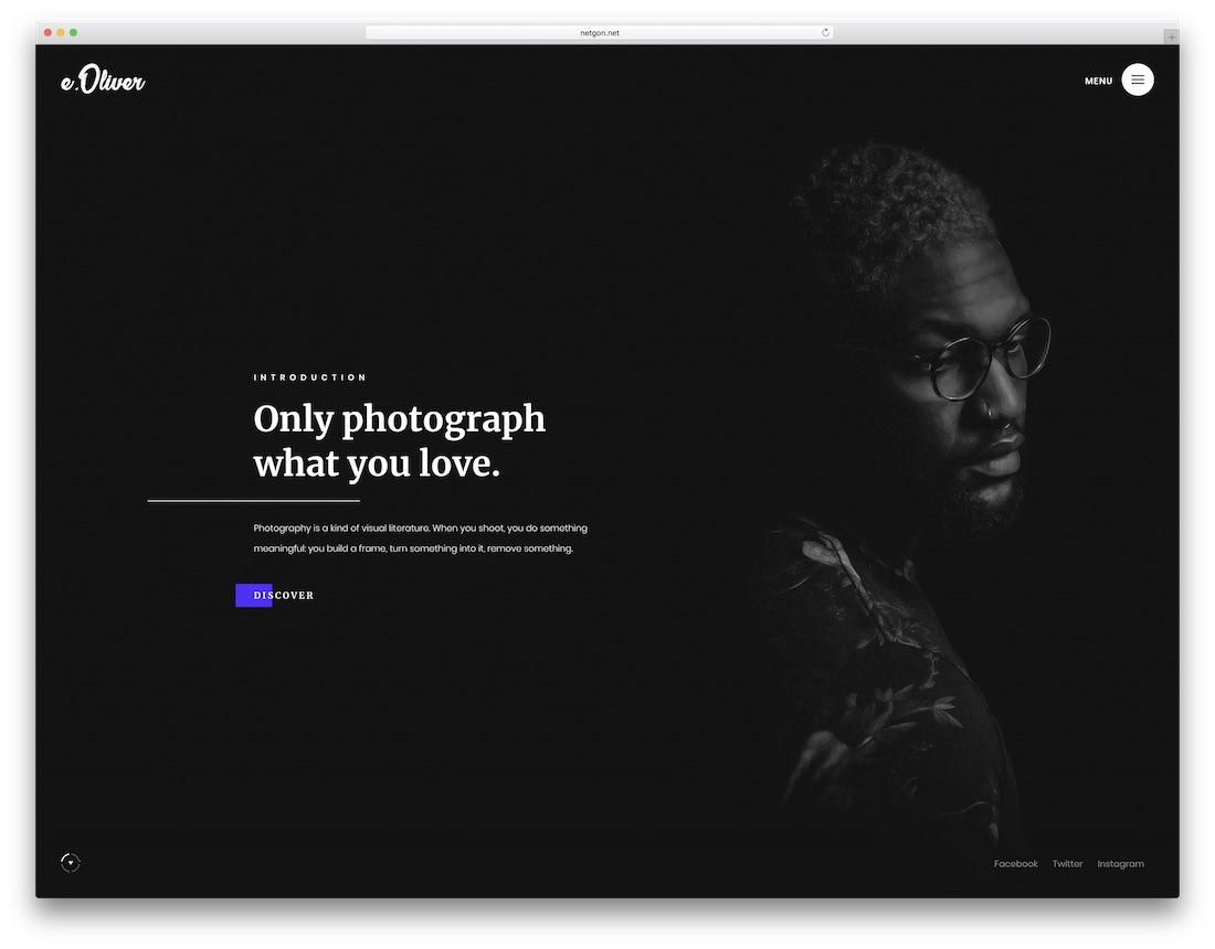 modèle de site web de conception graphique oliver