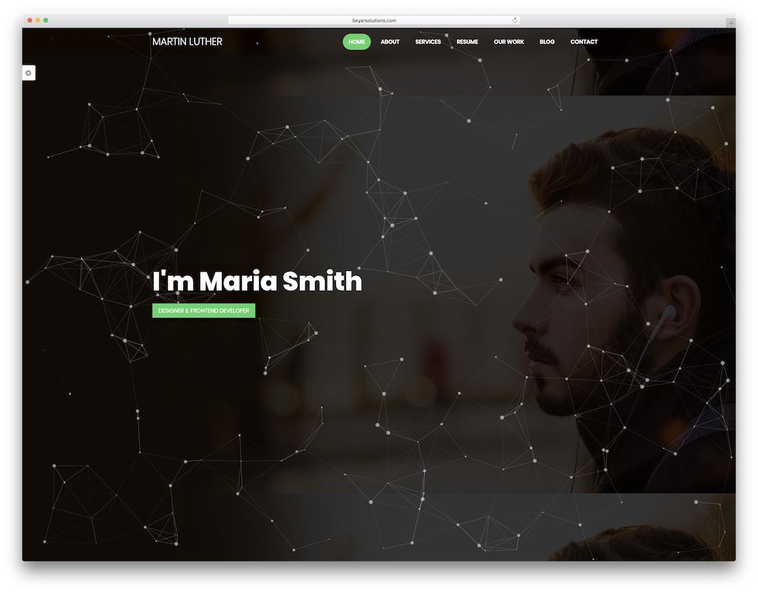 modèle de site Web de conception graphique martin luther