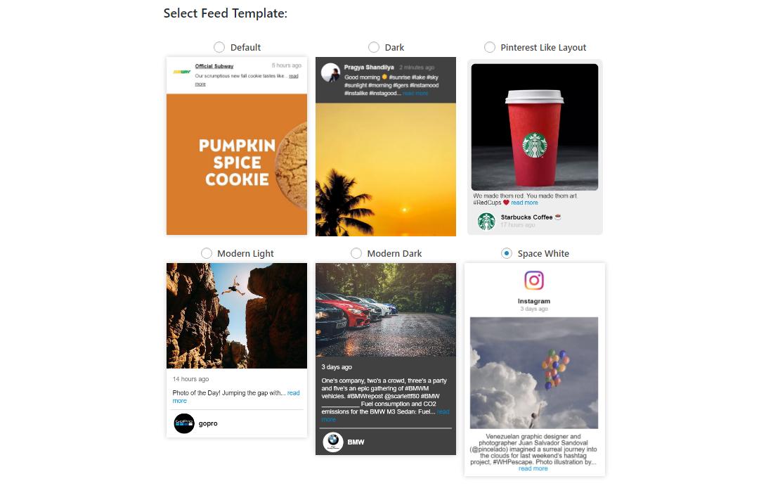 Le flux génial propose des mises en page sourdes, sombres et similaires à Pinterest!