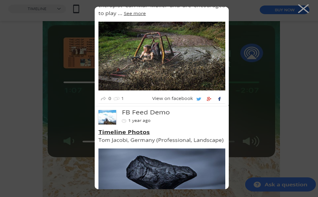 Un plugin très réactif que vous pouvez visualiser via le bureau, la tablette et le mobile!