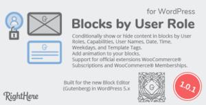 Blocks by User Role for WordPress