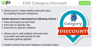 EDD Category Discount