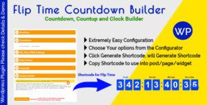 Flip Time Countdown Builder - Responsive Countdown Countup and Clock Builder for WordPress