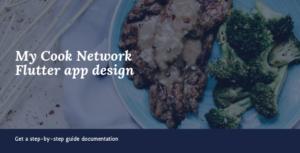 My cook network flutter UI app design