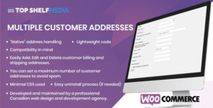 WooCommerce Multiple Customer Addresses Manager
