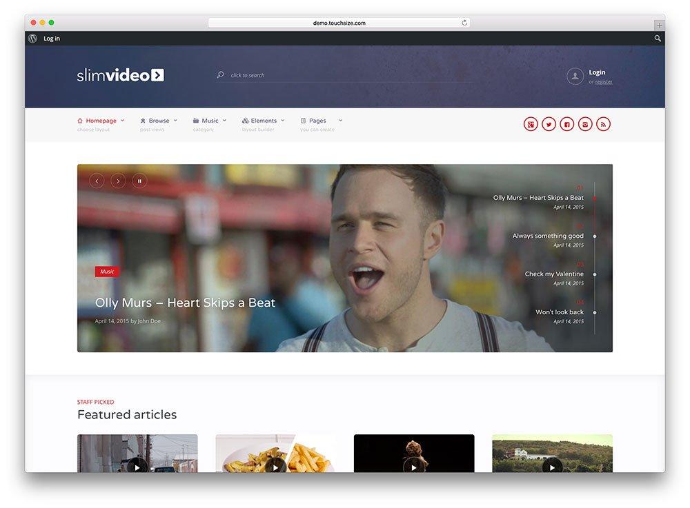 Thème slimvideo-partage-vidéo-wordpress