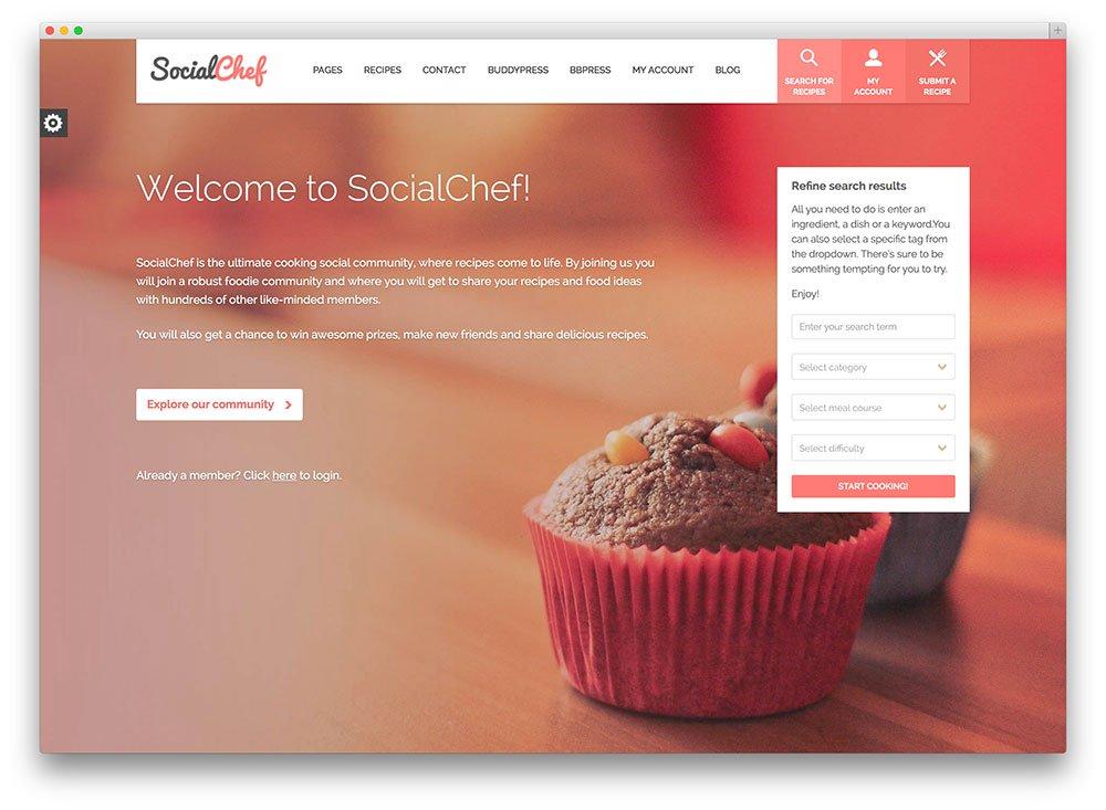 socialchef - réseau social de cuisine