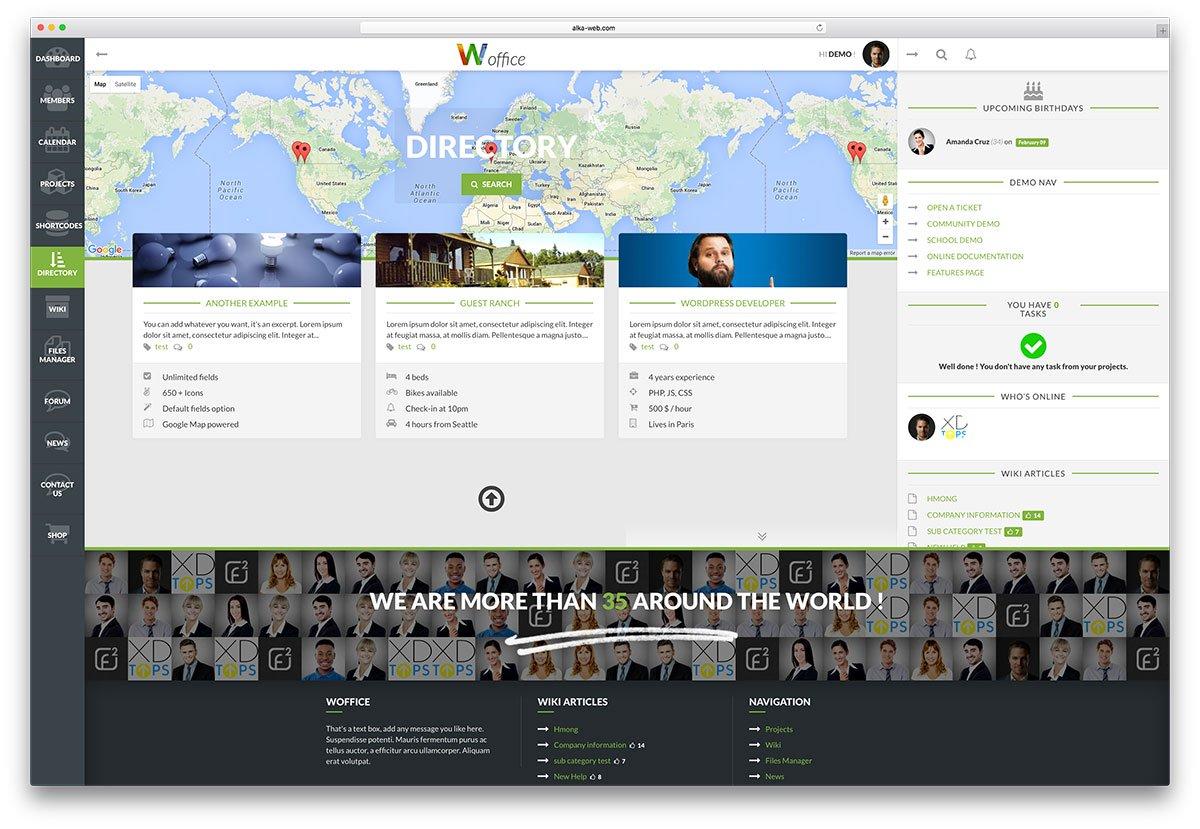 woffice-membership-directory-theme
