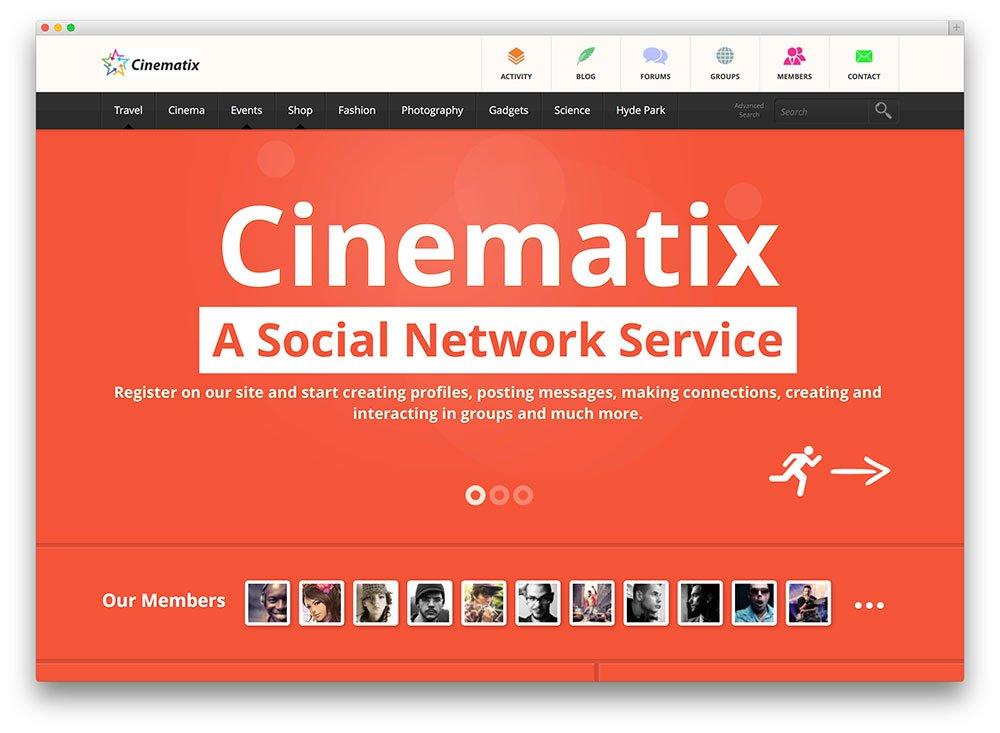 Thème WordPress Cinematix