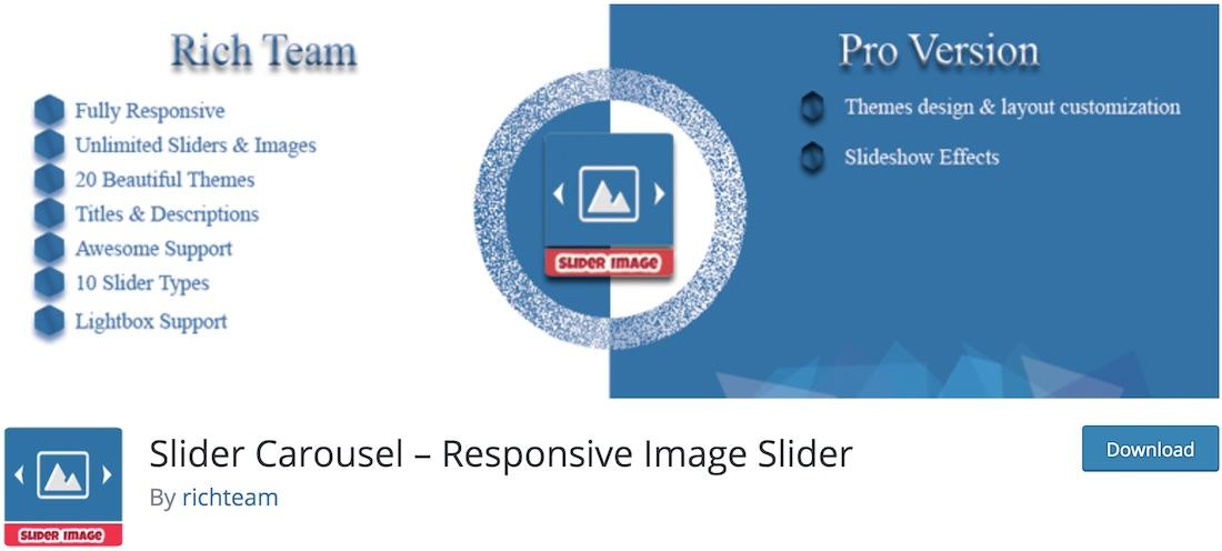 plugin curseur slider carrousel wordpress