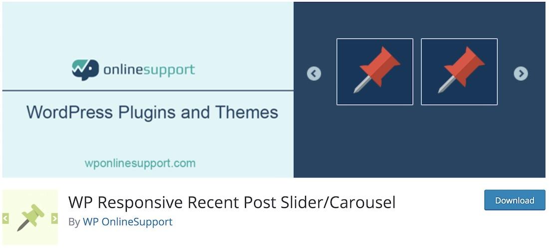 wp responsive récent post slider plugin wordpress gratuit