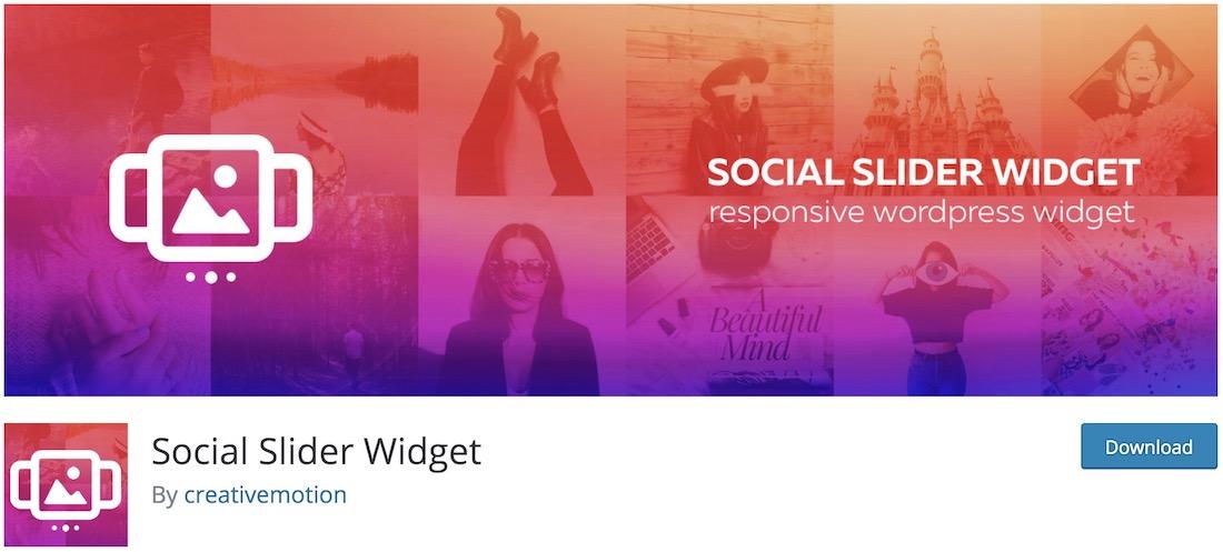 widget slider instagram plugin wordpress gratuit