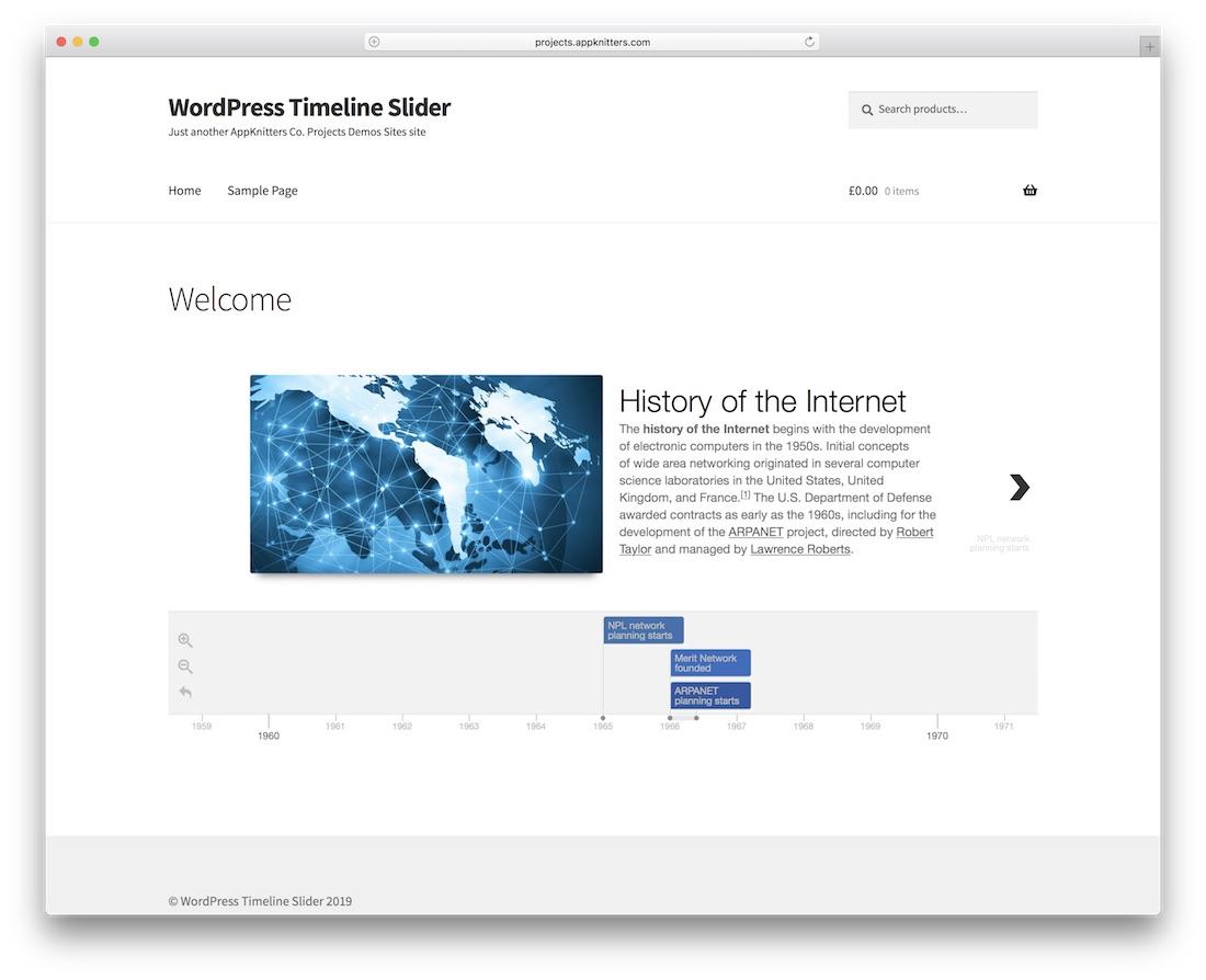 plugin de wordpress slider timeline