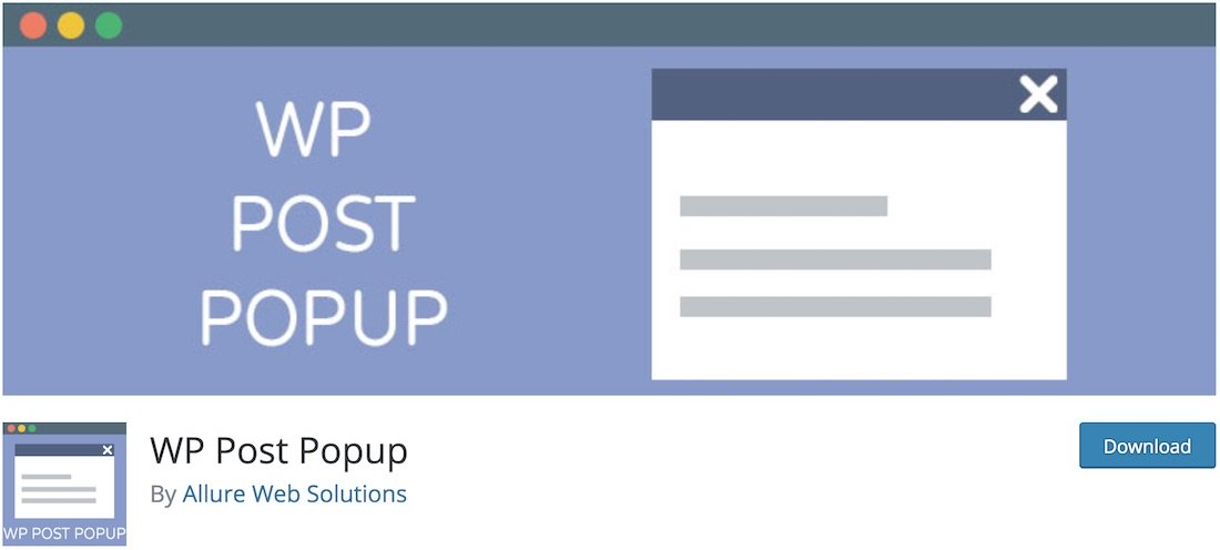 plugin wp post popup