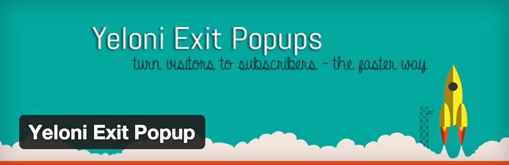 Yeloni Exit Popup Plugins WordPress