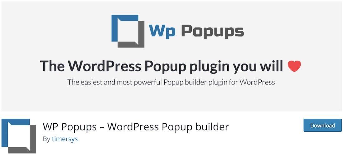 wp popups lite plugin popup wordpress