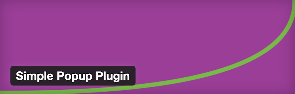Plugin Popup simple Plugins WordPress