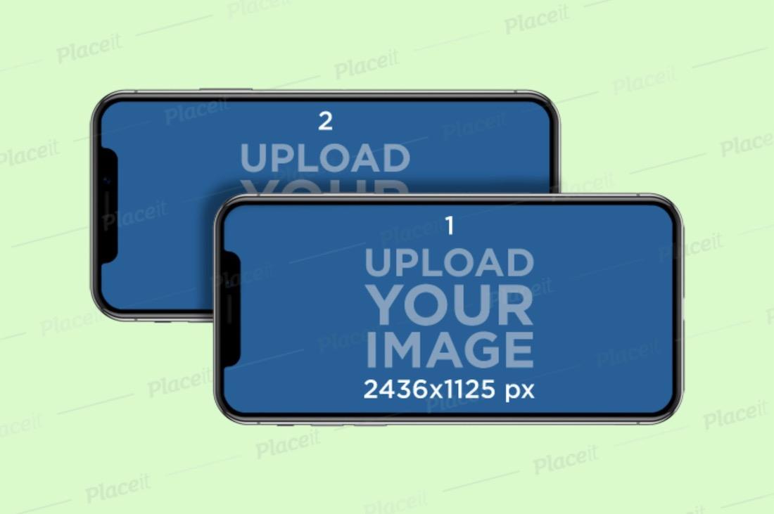 deux pros horizontaux de l'iphone 11 qui se chevauchent