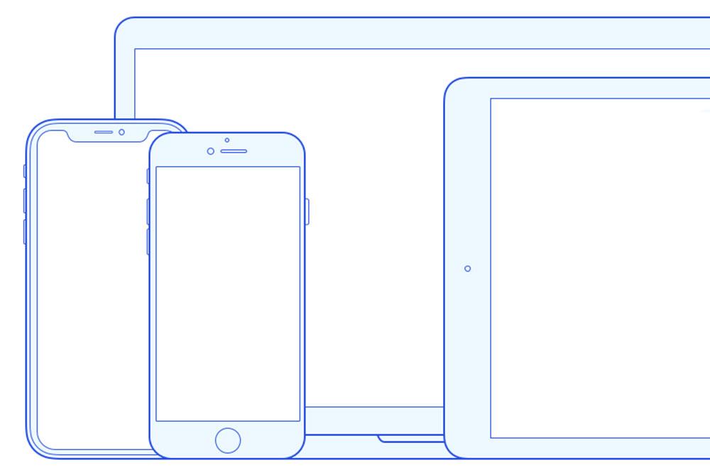 maquette de contour iphone