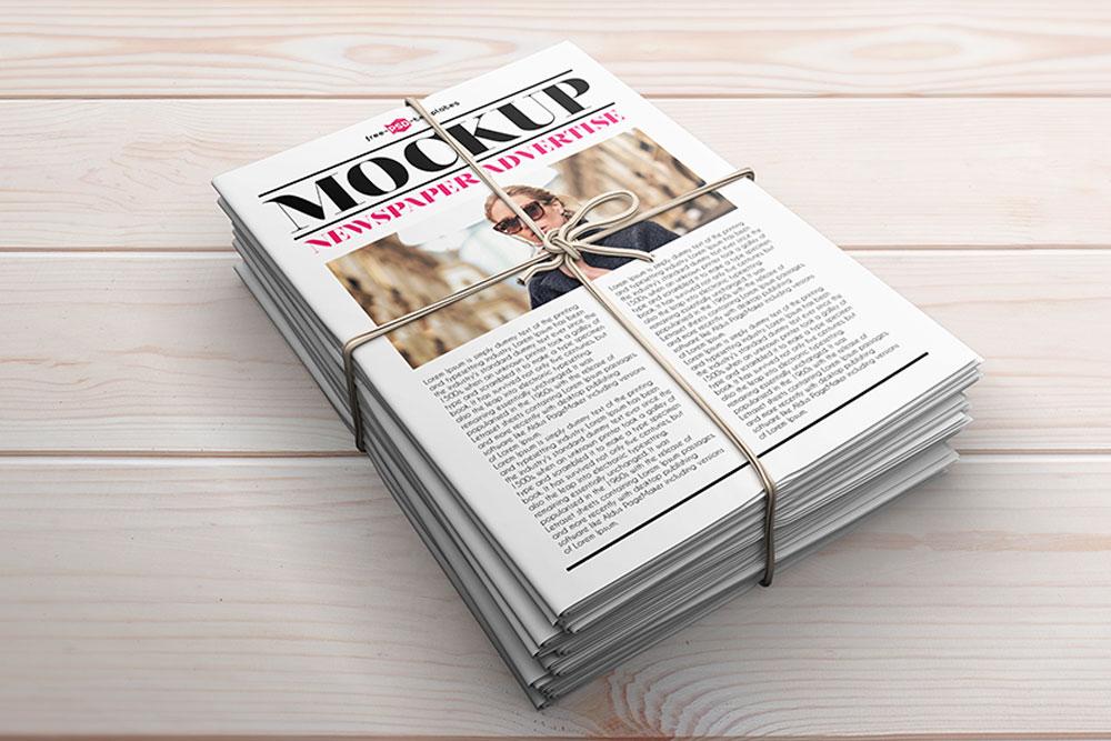 maquettes de journaux