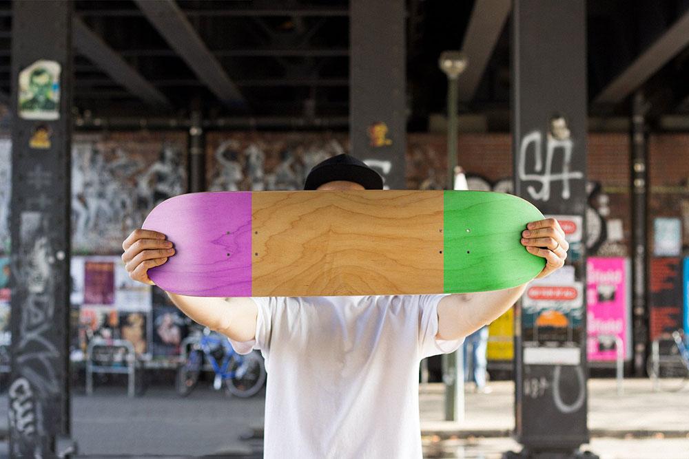 maquette de planche à roulettes