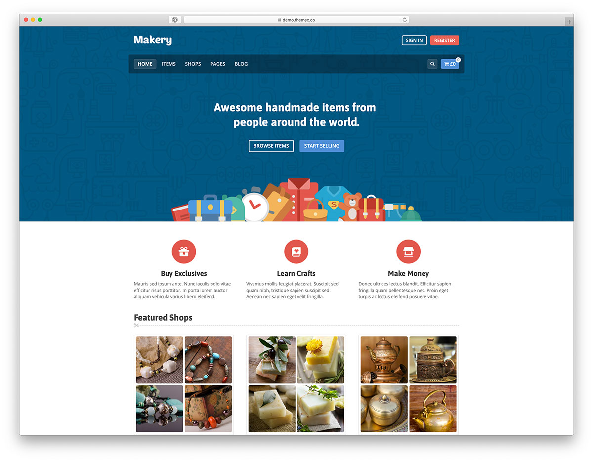 conception de sites Web de marché