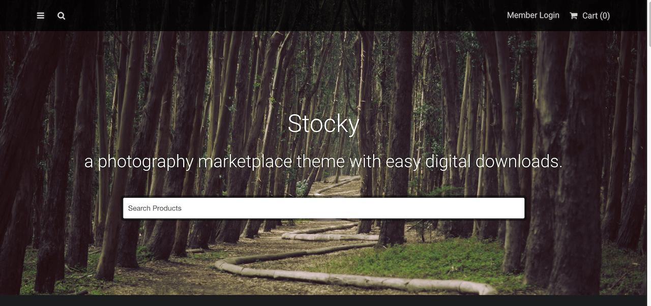 Stocky - Photographie de stock WordPress Marketplace