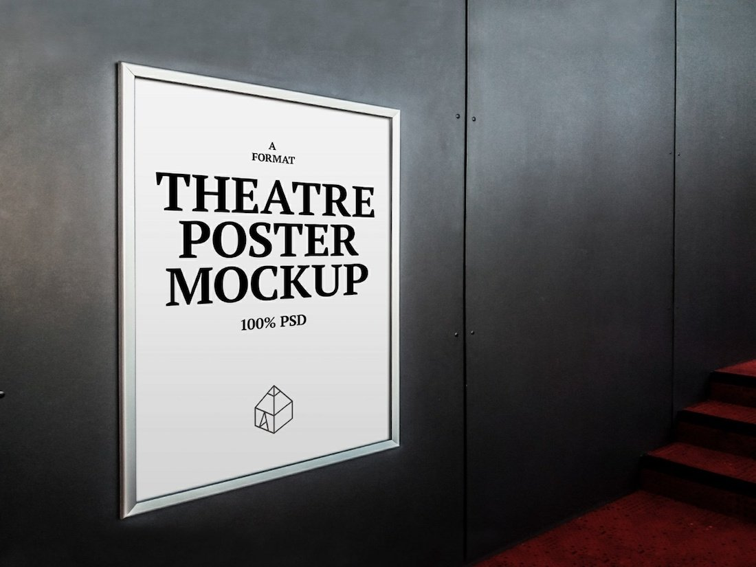 maquette d'affiche de théâtre gratuite