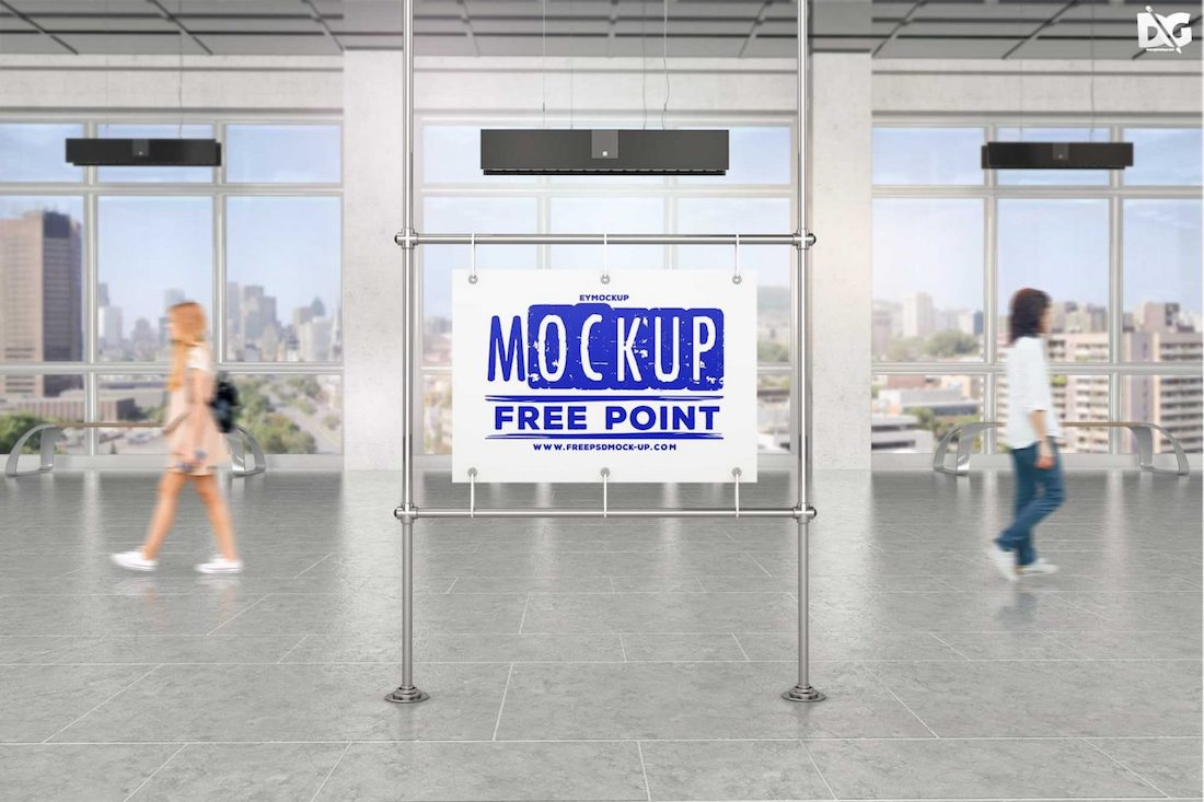 maquette d'affiche de station de métro