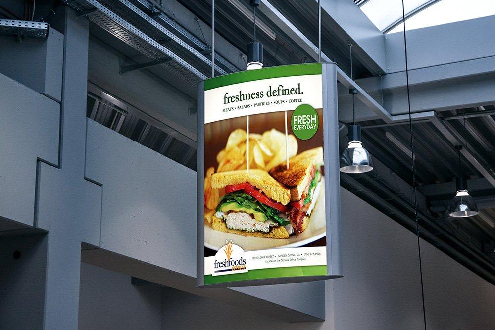 maquette d'affiche de publicité intérieure