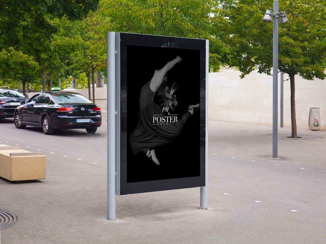 maquette d'affiche de théâtre extérieur