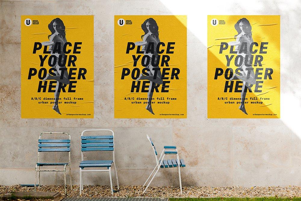 maquette d'affiche extérieure gratuite