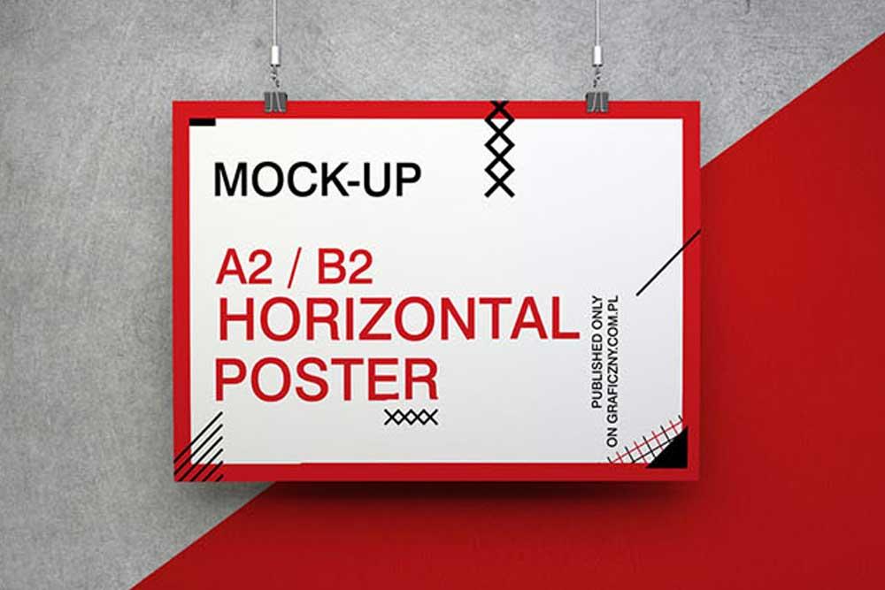téléchargement gratuit maquette d'affiche
