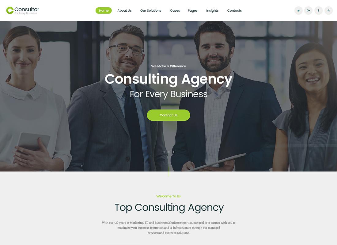 Consulteur   Un thème WordPress Business Consulting