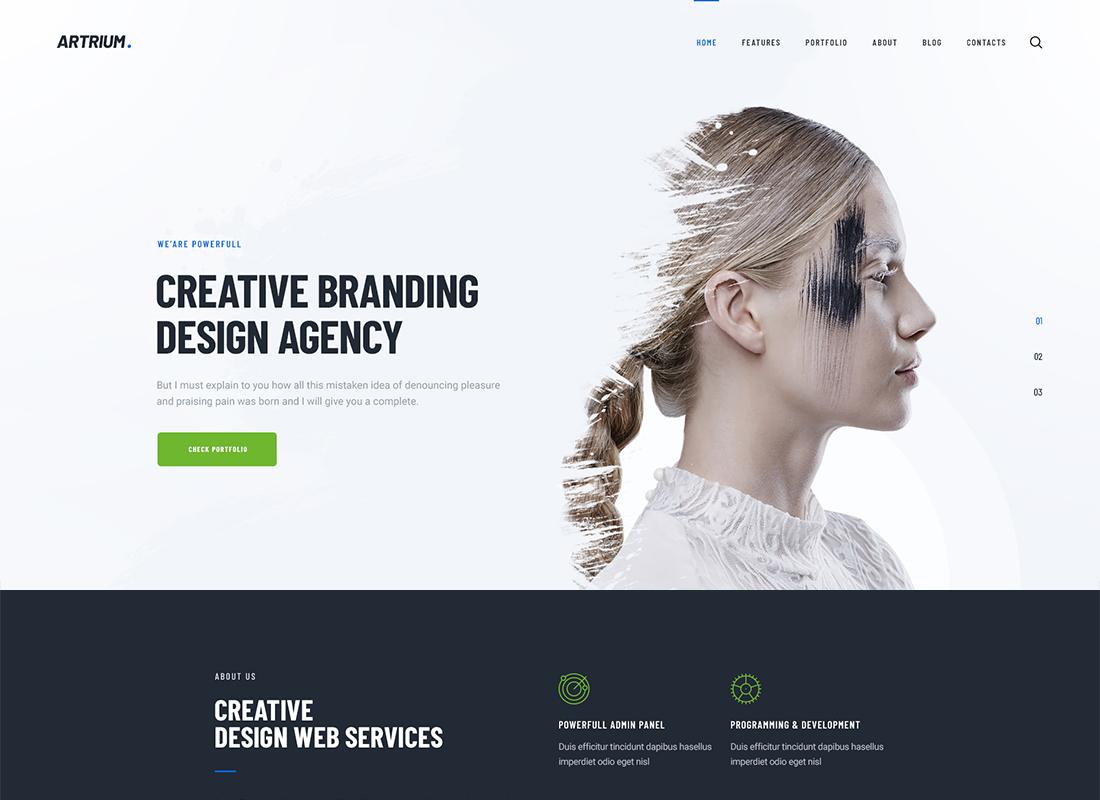 Artrium - Thème WordPress pour agence de création et Web Studio