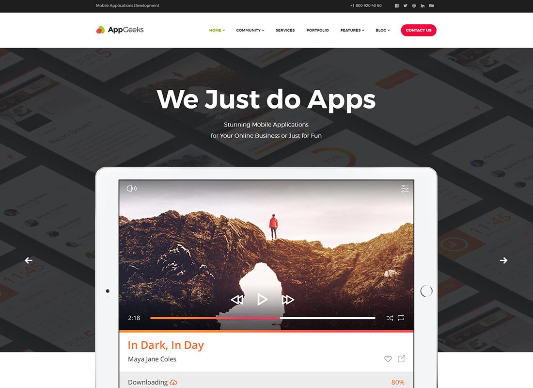 AppGeeks   Un thème WordPress Web Studio et Agence créative