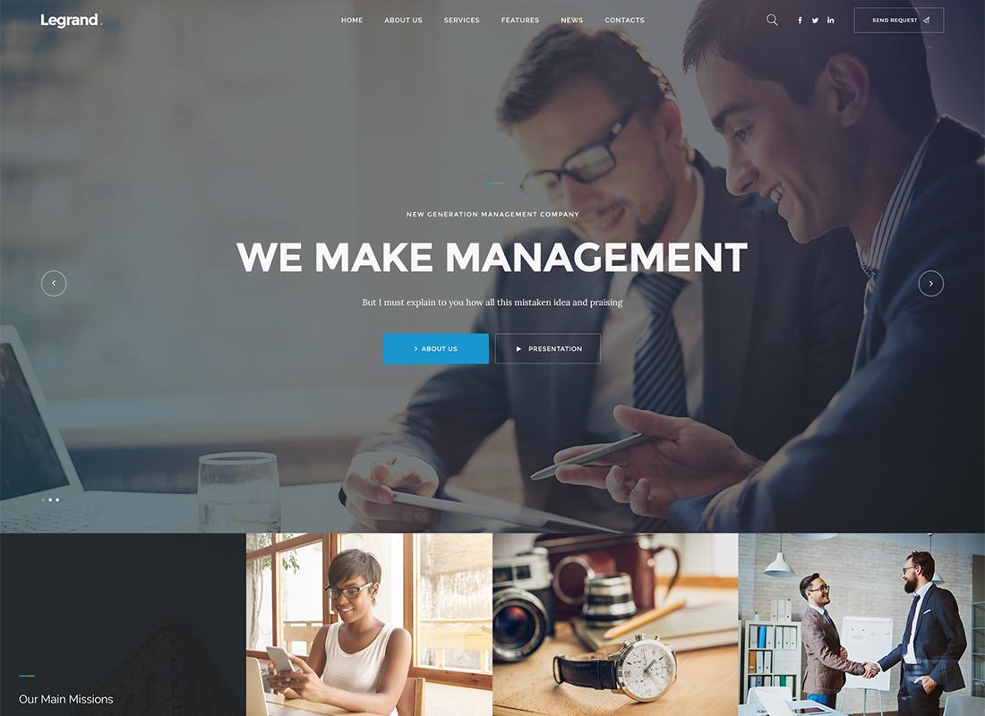 LeGrand   Un thème WordPress d'entreprise polyvalent moderne