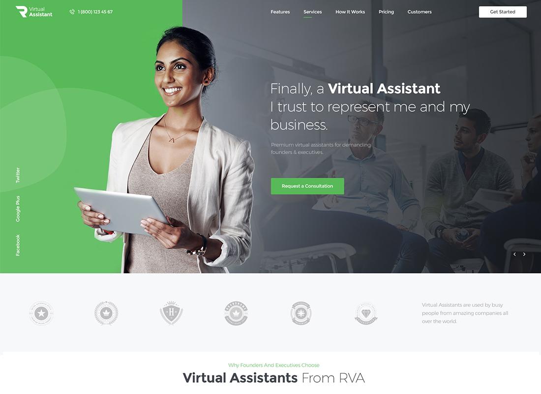 Revirta   Thème WordPress pour assistant virtuel