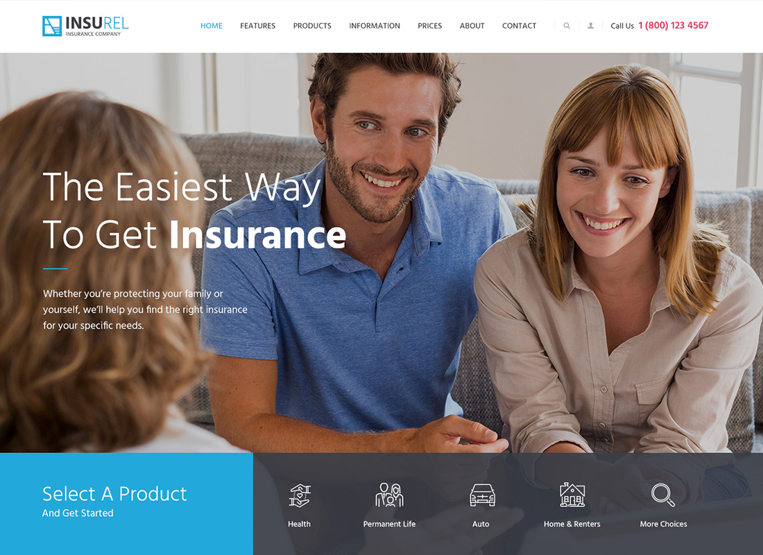 InsuRel   Thème WordPress assurance et finance