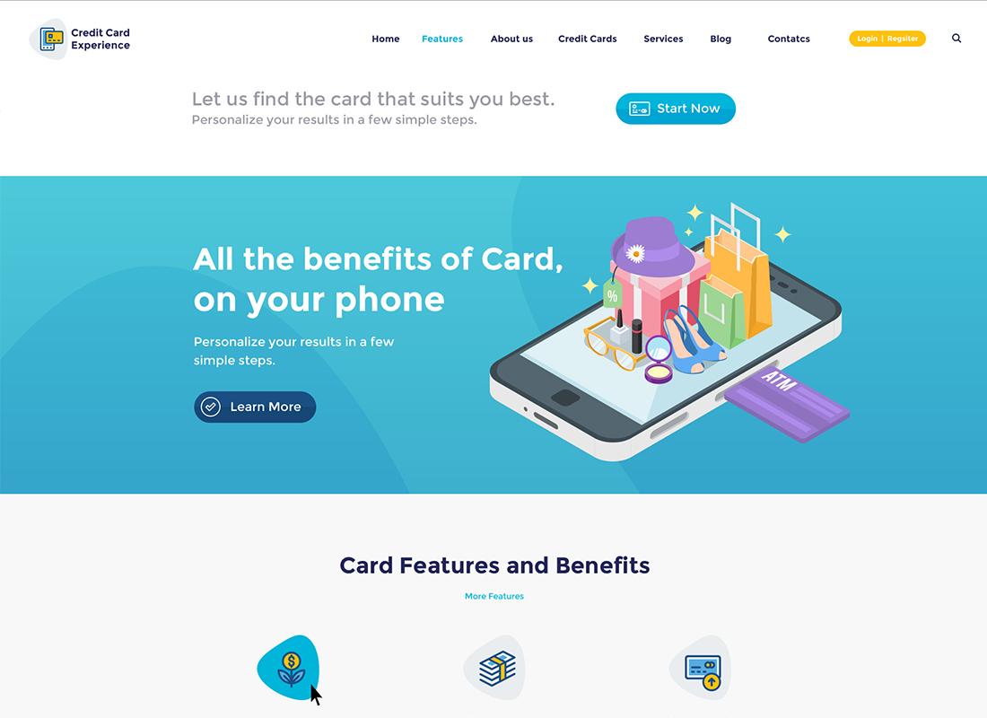 Société de cartes de crédit et thème WordPress pour banque en ligne