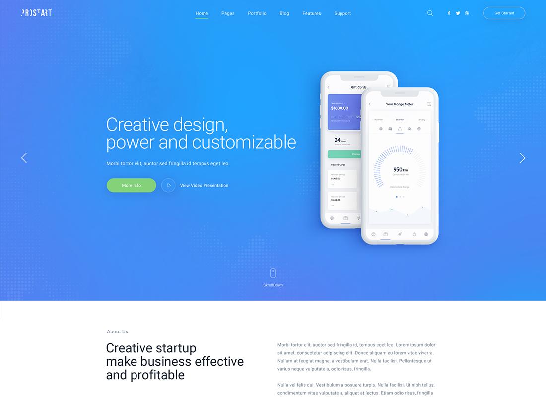 ProStart   Thème WordPress pour startup et entreprise
