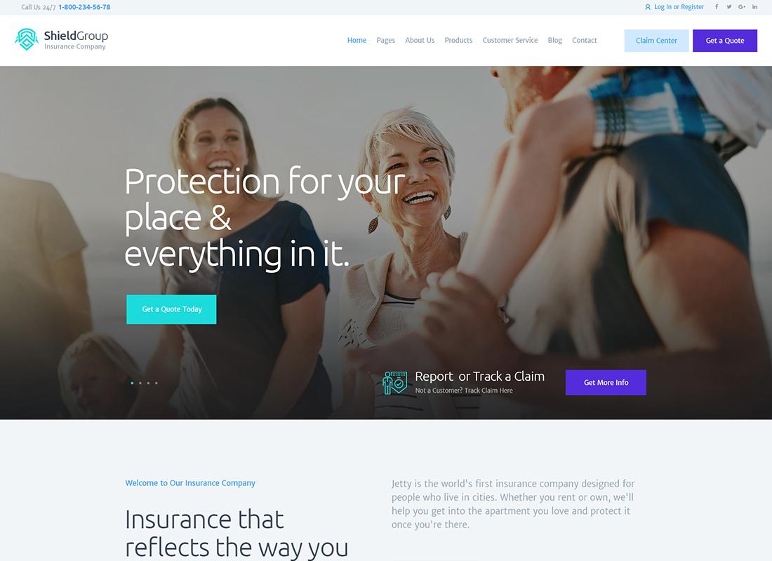 ShieldGroup   Un thème WordPress pour les assurances et les finances
