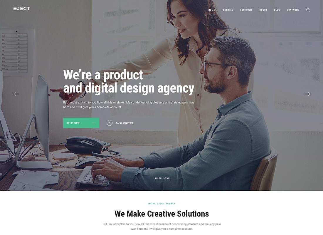 Éjecter   Thème WordPress pour studio Web et agence de création