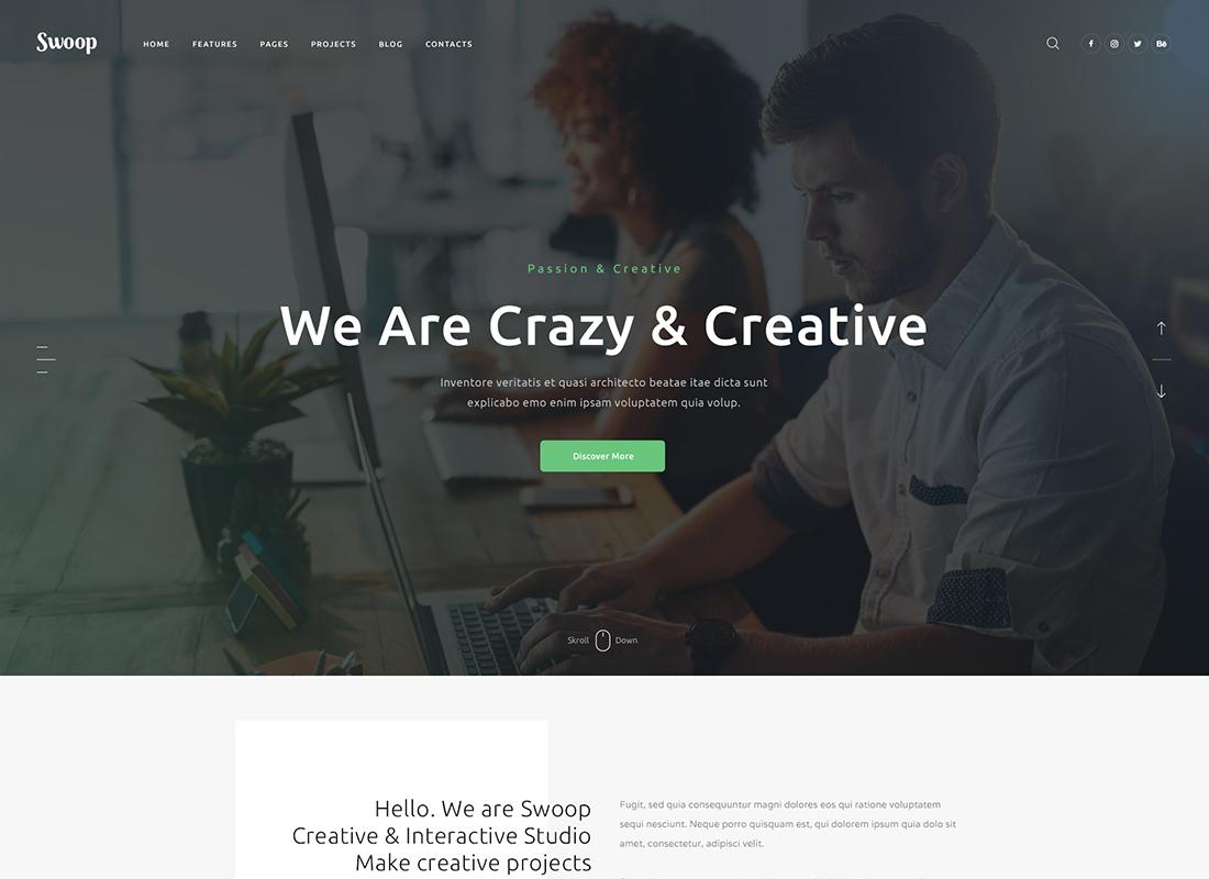 Swoop   Thème WordPress pour studio Web et agence de création