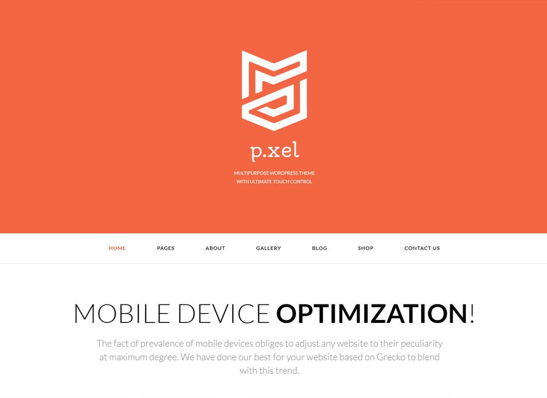 Pixel   Un thème WordPress polyvalent moderne