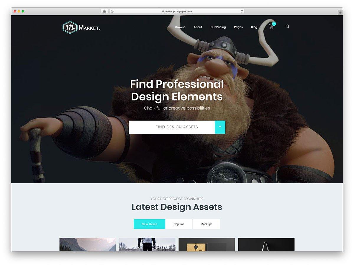 thème WordPress marketplace